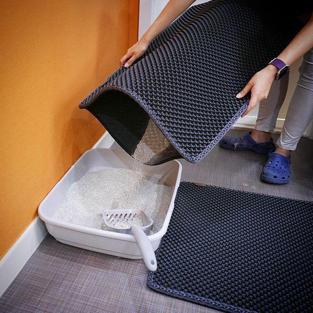 How to clean Cat litter Mat?